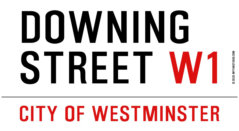 Downing Street London Street Sign Writer 187 My Fun Studio