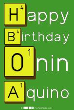 Happy Birthday Onin Aquino