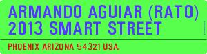 Armando Aguiar (Rato)  2013 Smart Street