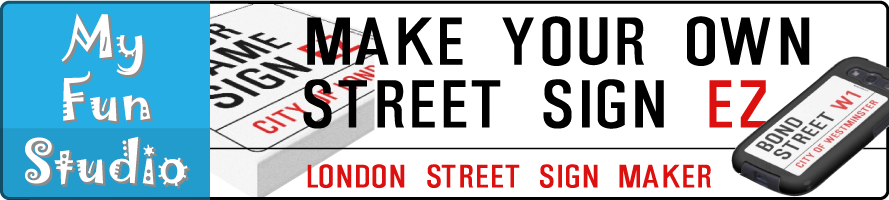 My Fun Studio: London Street Sign Maker